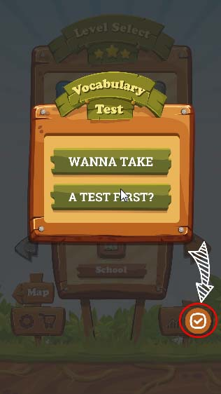 "Redeem a Promo Code: You will receive ""Wanna Take A Test First"" screen."